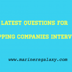 Interview Questions for Shipping Companies- Part 1