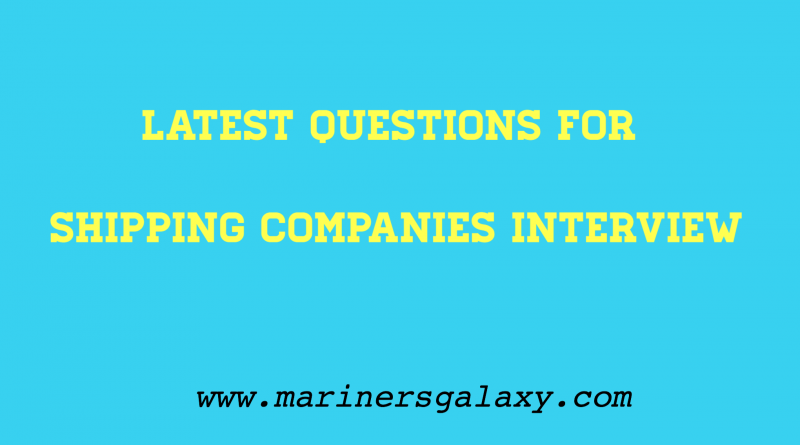 shipping companies interview