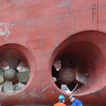 Watch: How They Put A NEW Bow Thruster