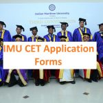 IMU CET 2019 application form | IMU CET 2019