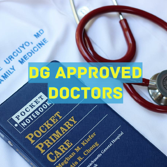 dg approved doctors in uttar pradesh, dg approved doctors in goa