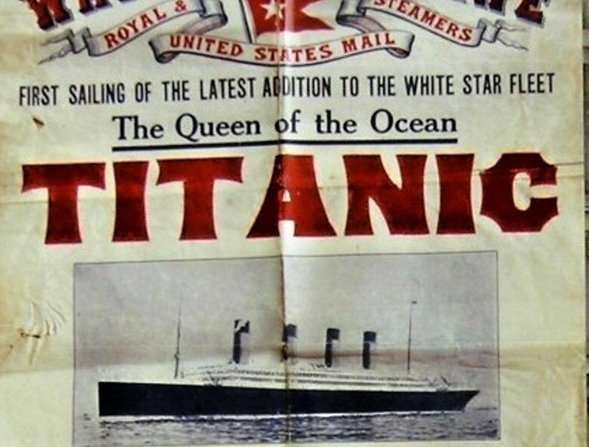 Advertisement of Titanic