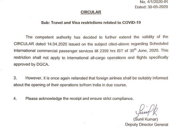 International Flights Shut