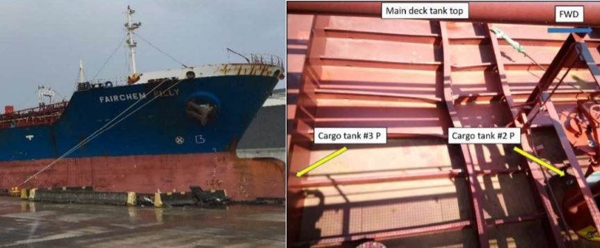 $850000 Loss To Chemical Tanker