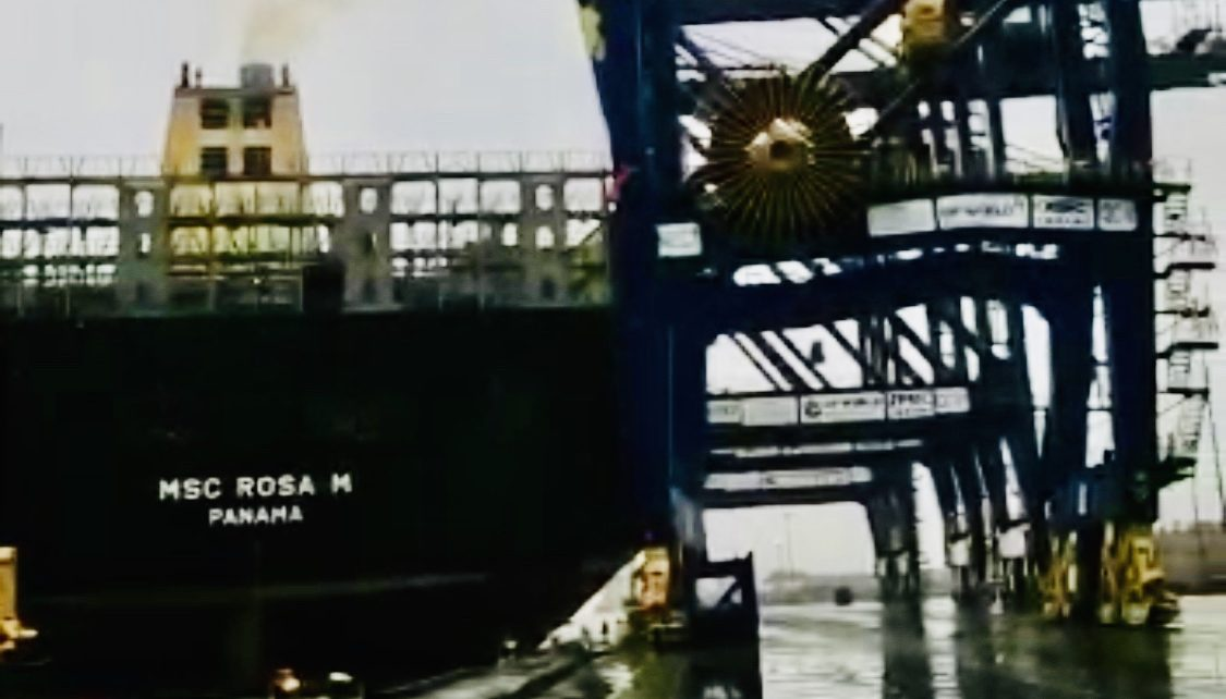 MSC Container Ship Collides