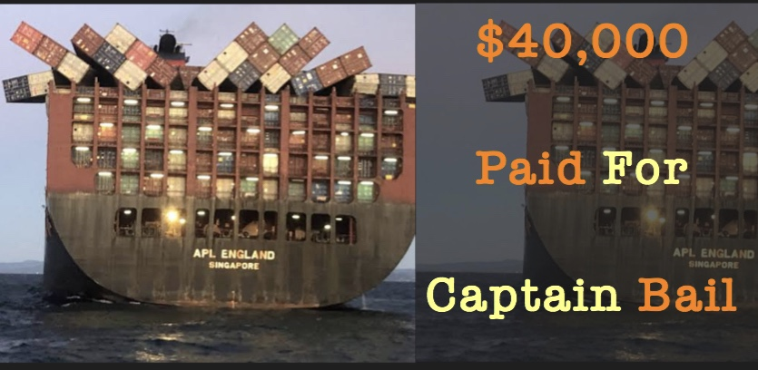 Captain Bail in Container Ship Incident