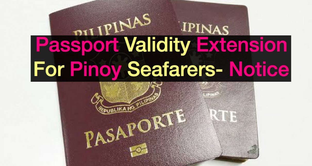 Extension of Validity of Passports for OFWs