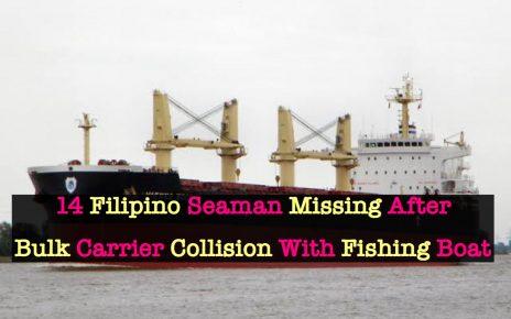 14 Filipino Crew Members Missing